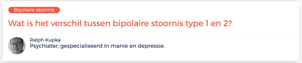 verschil bipolaire type 1