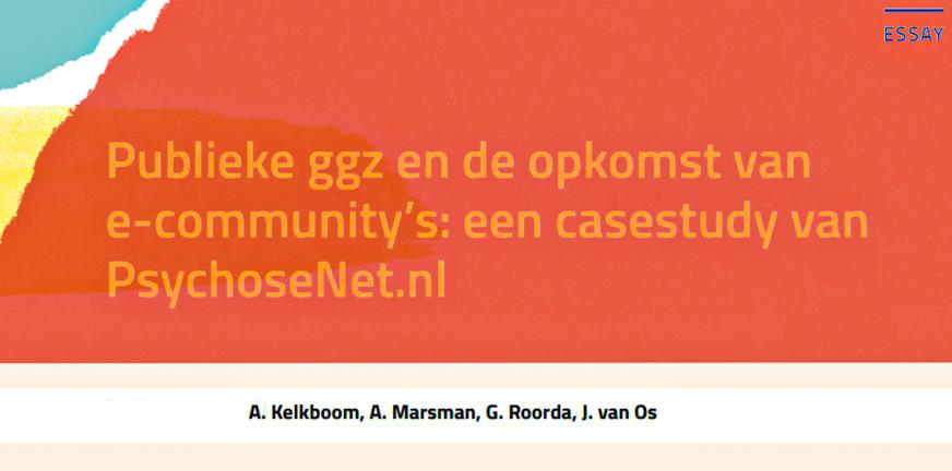 Blog A Kelkboom Publieke GGZ en de opkomst van e-community's
