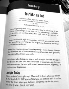 to make an end