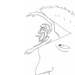 Blog Er woont een krijsende aap in mijn hoofd